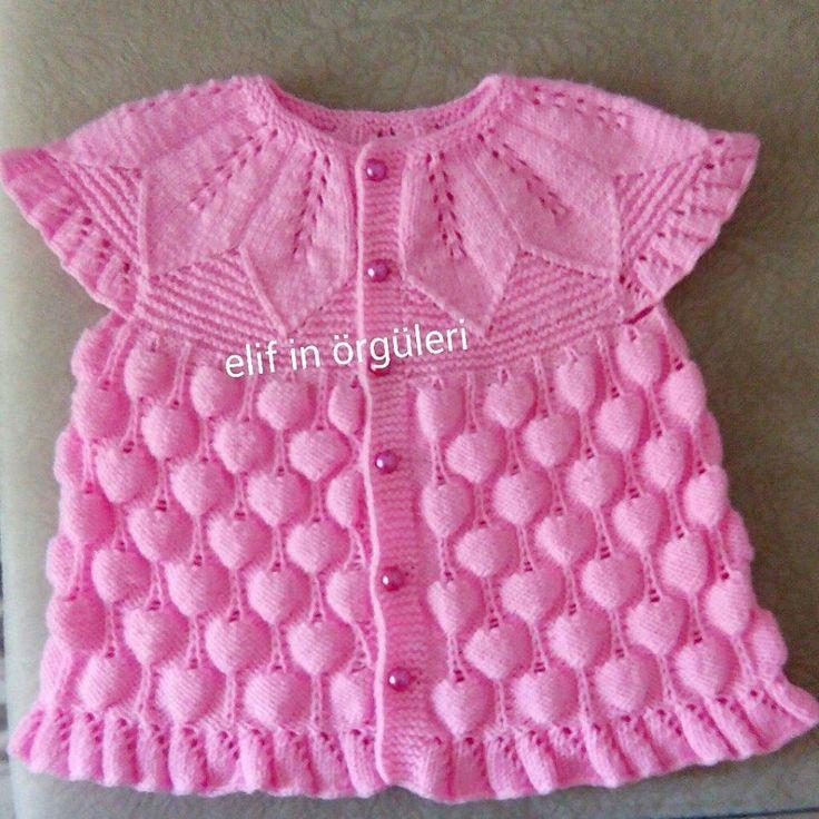 Hello Kitty Cardigan Knitting Pattern : 23204 best images about bebek yelek,ceket,sapka modelleri on Pinterest Baby...