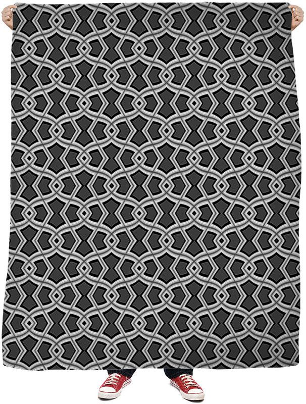 Diamond Shapes on Charcoal Blanket by Terrella