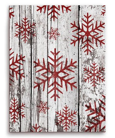 Love this Snowflakes Wood Wall Art on #zulily! #zulilyfinds