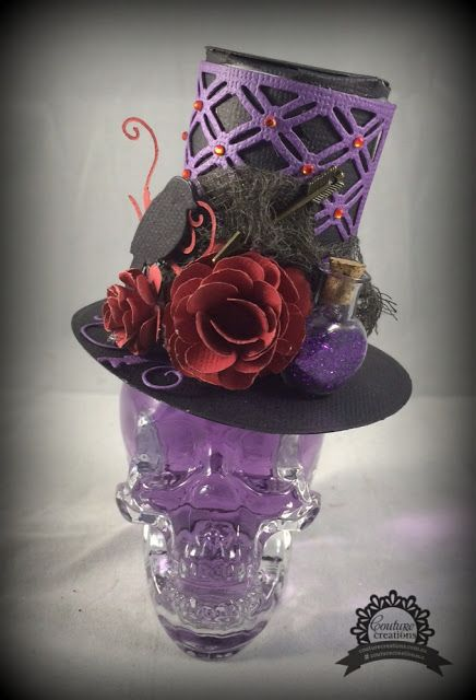 Couture Creations: Halloween Crystal Skull by Tracey Cooley