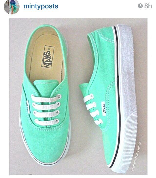 Mint green vans! ☺️