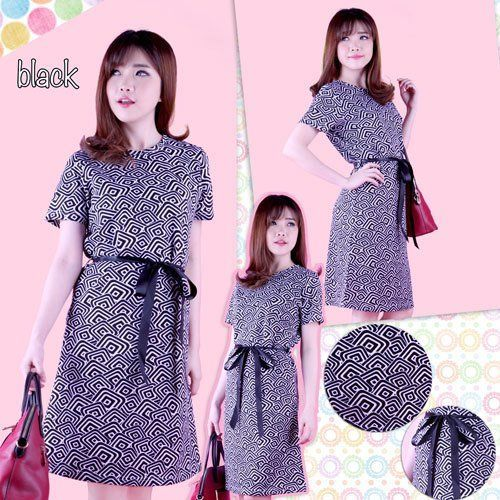 Furista Double Square Set Blouse, Warna Black, size L, Blouse (LD 92-98 cm, Pj 63 cm, Mat Spandek), Skirt (LP 76-86 cm, Pj 52 cm, MAt Wedges, Pinggang Full karet) 139K
