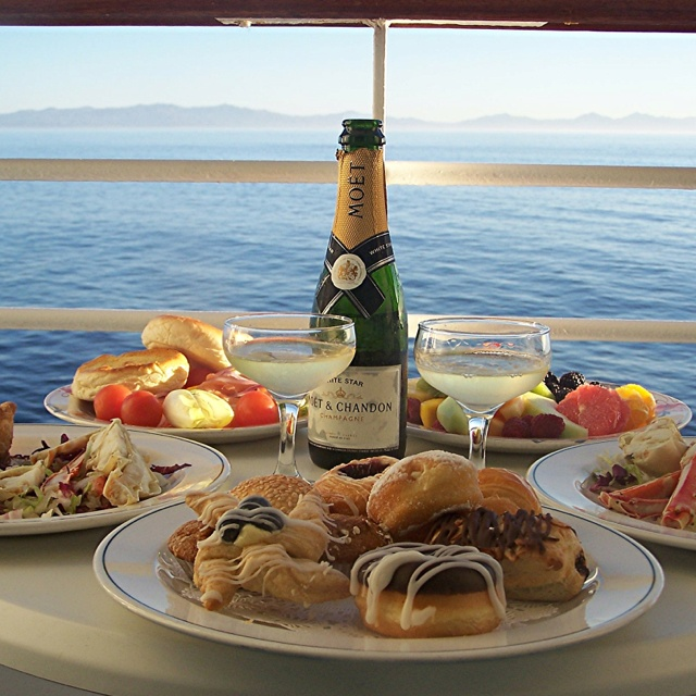 #PrincessCruises #travel Champagne breakfast on our Princess balcony sailing along the Baja. Ultimate relaxing way to start a day!
