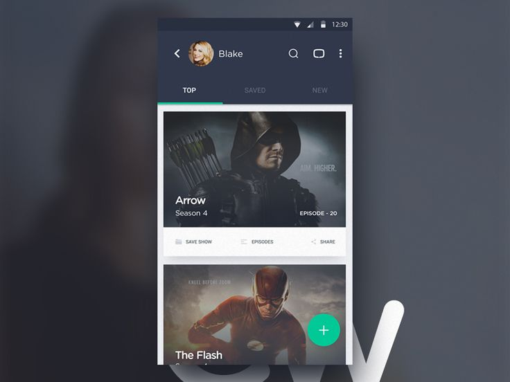 Tv Series Android App UI