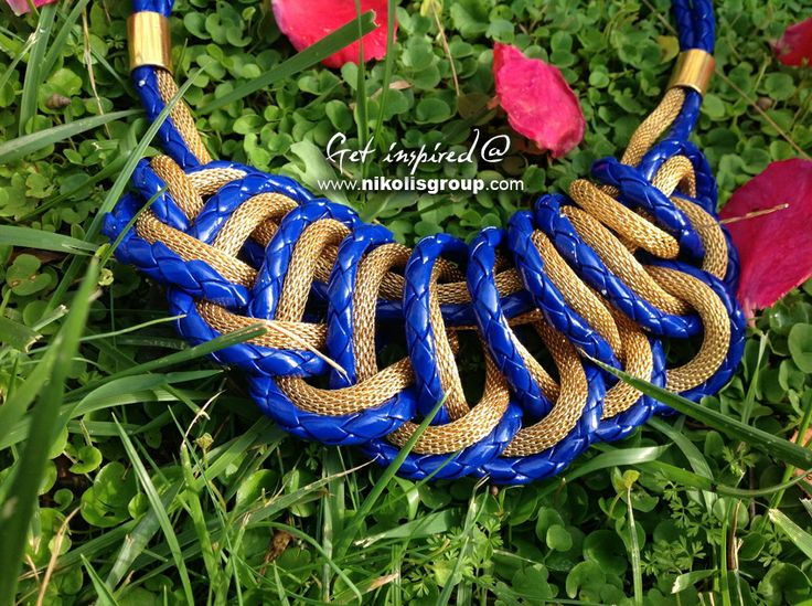 Make this necklace by mixing snake chain with braided cords! find all the materials @ www.nikolisgroup.com