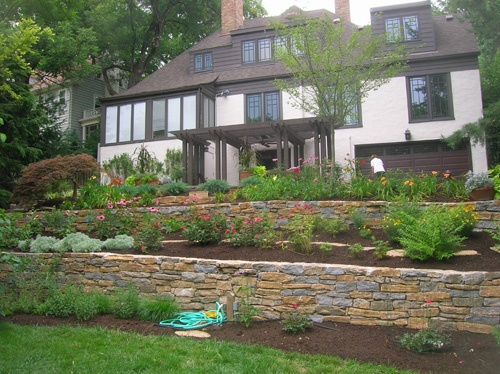 49 best images about front yard slope on pinterest for How much to landscape a small front yard