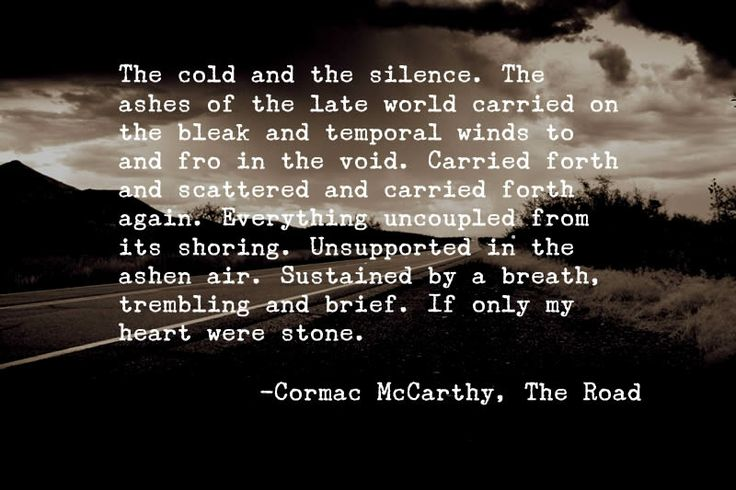 the road syntax essay cormac mccarthy Get free homework help on cormac mccarthy's the road: book summary, chapter summary and analysis, quotes, and character analysis courtesy of cliffsnotes the novel.