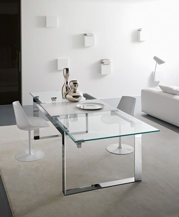Rectangular #glass #table MILES XT by @Tonelli Design | #design Giulio Mancini #interiors