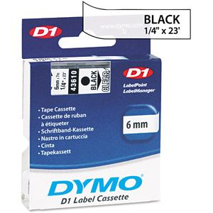 DYMO D1 Standard Tape Cartridge for Dymo Label Makers, Black on Clear $13.58