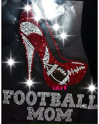 Football Mom- Iron on Rhinestone Transfer Bling Hot Fix Bling -  DIY on Etsy, $11.99
