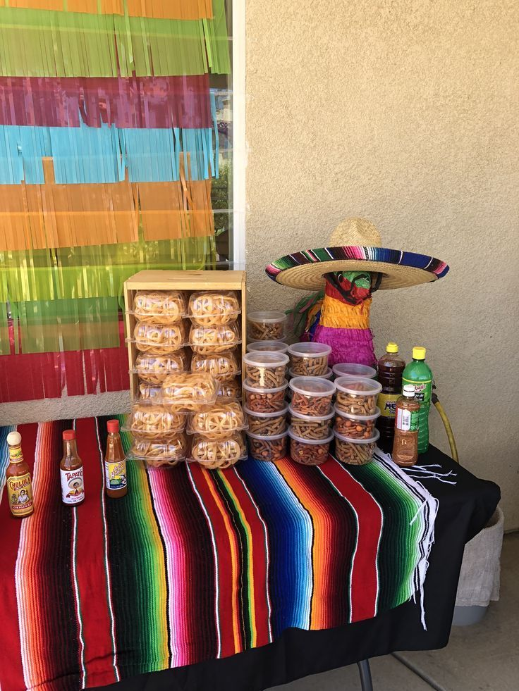 Mexican Candy Table Mexican Party Decorations Mexican Party Theme Mexican Birthday Parties