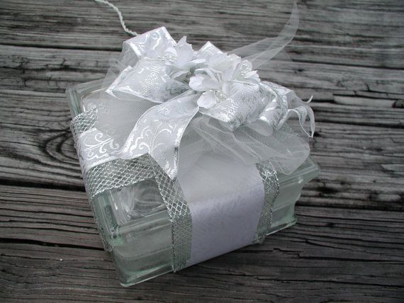 Lighted Glass Block Wedding Theme Decor Glass Block with 50