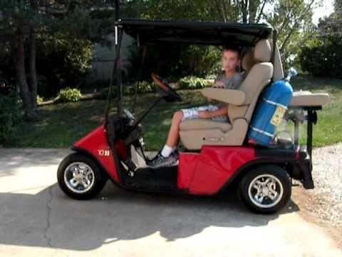Ez go golf cart on bags slammed golf carts pinterest for Narrow golf cart