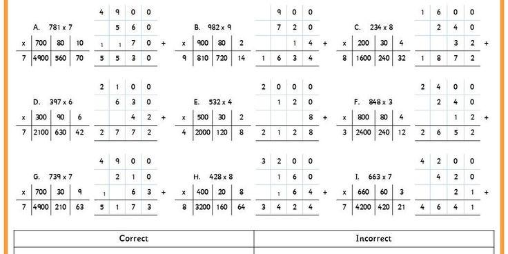 Box Method Multiplication Worksheet Davezan – Grid Multiplication Worksheets