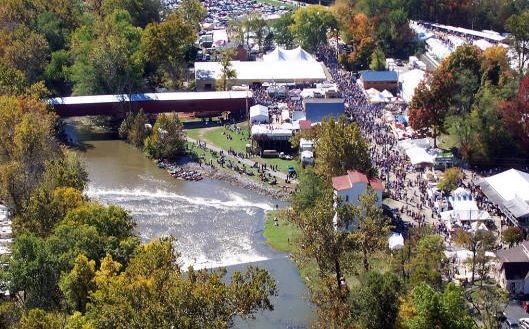 Indiana's largest festival - The Covered Bridge Festival - one of the best fall festivals in the U.S.