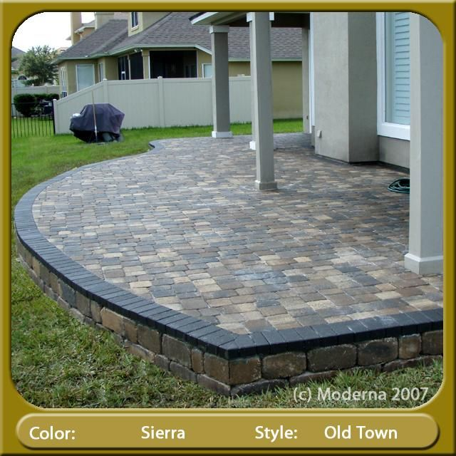 Pavers For Patio Raised Paver Patio Orange Park Provided By Moderna Pavers Jacksonville