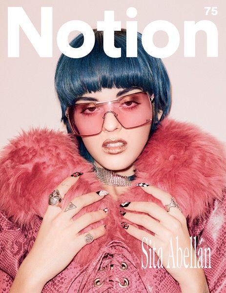 Sita Abellán - Notion 75 Magazine Cover. Photographer: Ben Parks