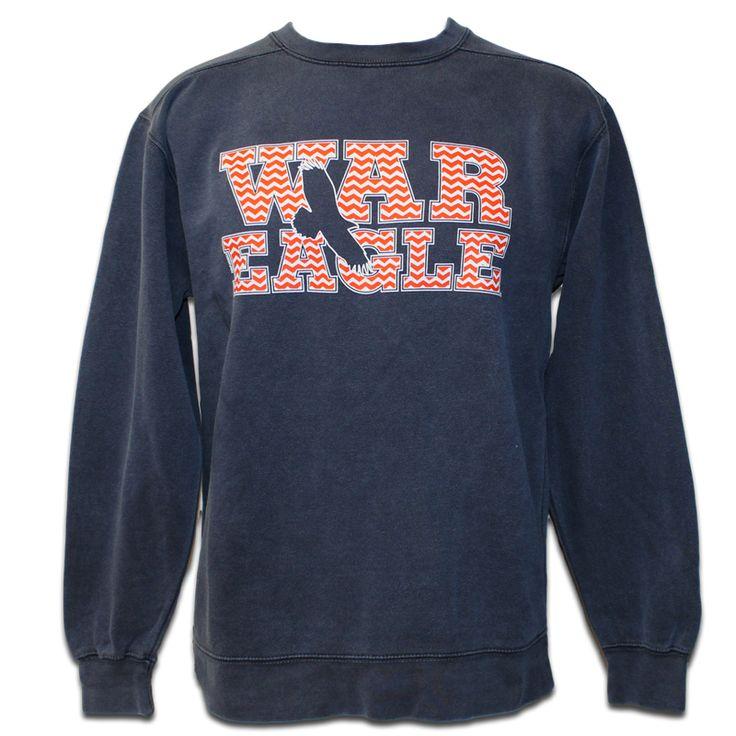 Sweatshirt, Comfort Color Chevron War Eagle | Auburn University Bookstore