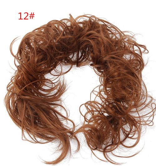 2Pcs/Lot Hair Buns Scrunchy Bun Wholesale Updo Bride Bun Hairpiece Curly Wavy Messy Multifuctional Hair Chignon Bun Hair Piece