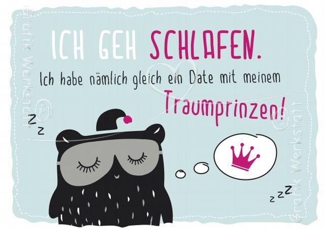 Ich geh schlafen. - Postkarten - Grafik Werkstatt Bielefeld