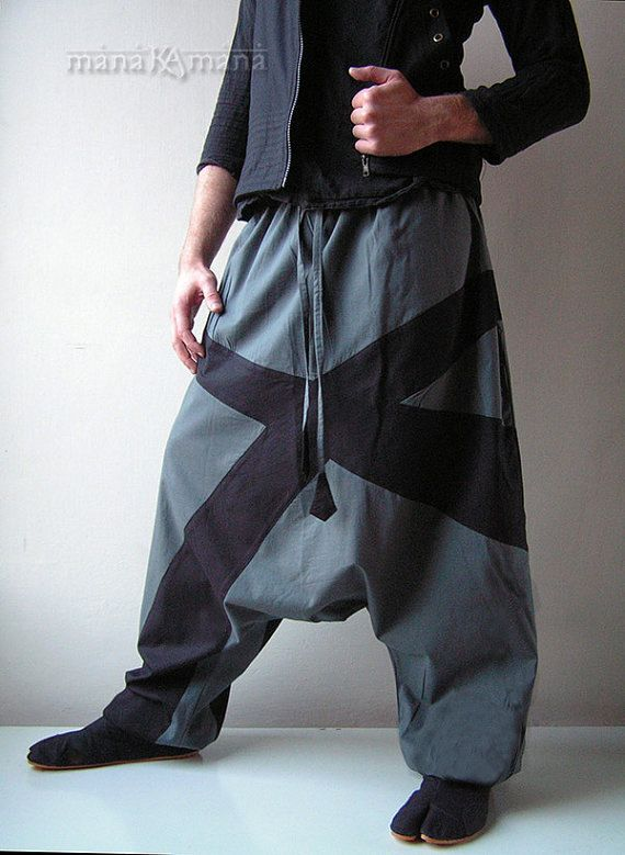 Harem Pants Grey Aladdin Trousers X Long with by manaKAmana