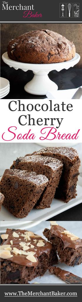 Chocolate Cherry Soda Bread. A twist on Irish soda bread made with dark cocoa, sweet dried cherries and flavored with almond.