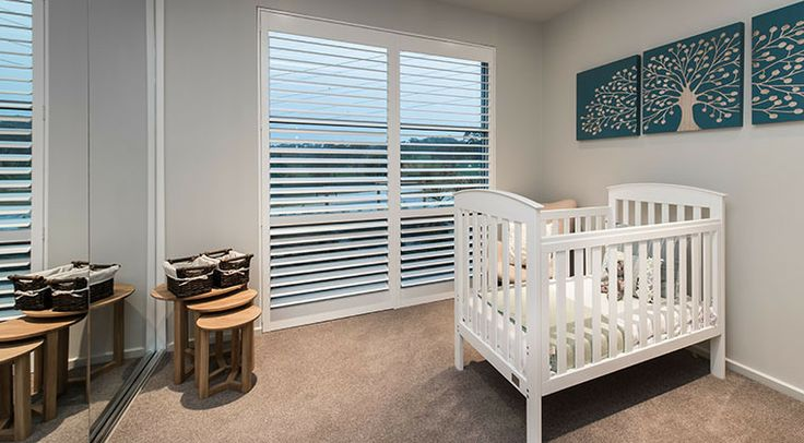 The second bedroom makes a gorgeous nursery. #nursery #bedroom
