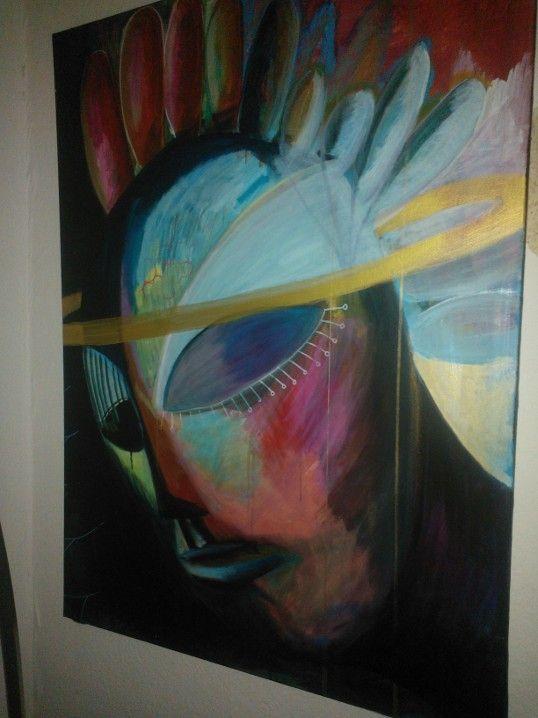 "Painting acryllic "" Angel"" 100x70cm"