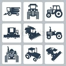tractor silhouettes