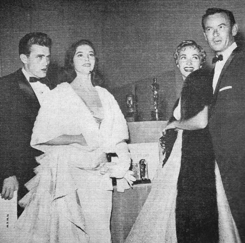 James Dean, Pier Angeli, Jane Powell and husband Pat Nerney