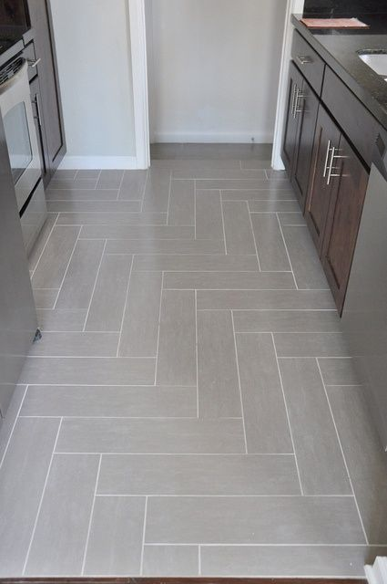Righy angle herringbone tile floor by Lindsay Redd Design - Love