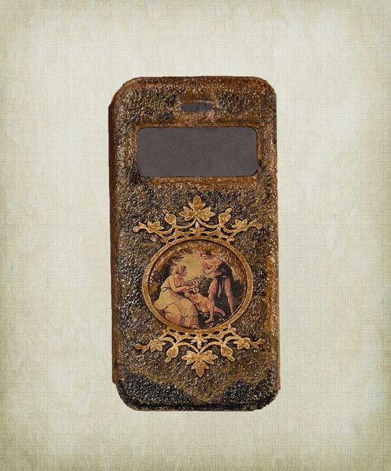 Gothic iPhone case  PU Leather iPhone 5 by ShabbyChicToVintage, $57.00