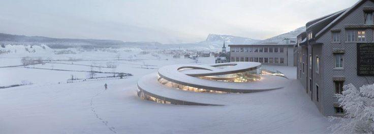 BIG design new museum for Audemars Piguet  more: www.inexhibit.com/marker/big-bjarke-ingels-group-designs-museum-piguet/