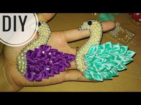 DIY || Cara Membuat Bros Angsa ️ Sparkling - Tutorial Pretty Swan - YouTube