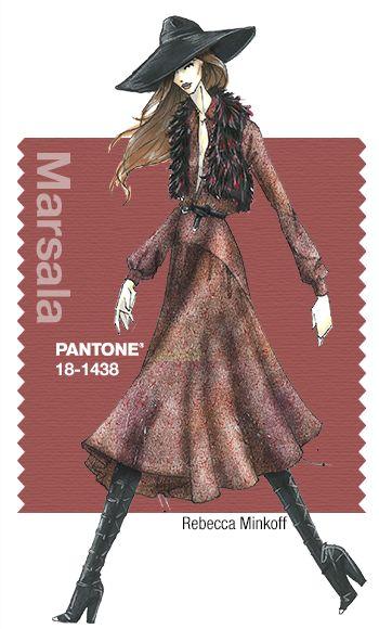 Rebecca Minkoff in Pantone Marsala - FALL 2015 PANTONE's FashionColorReport