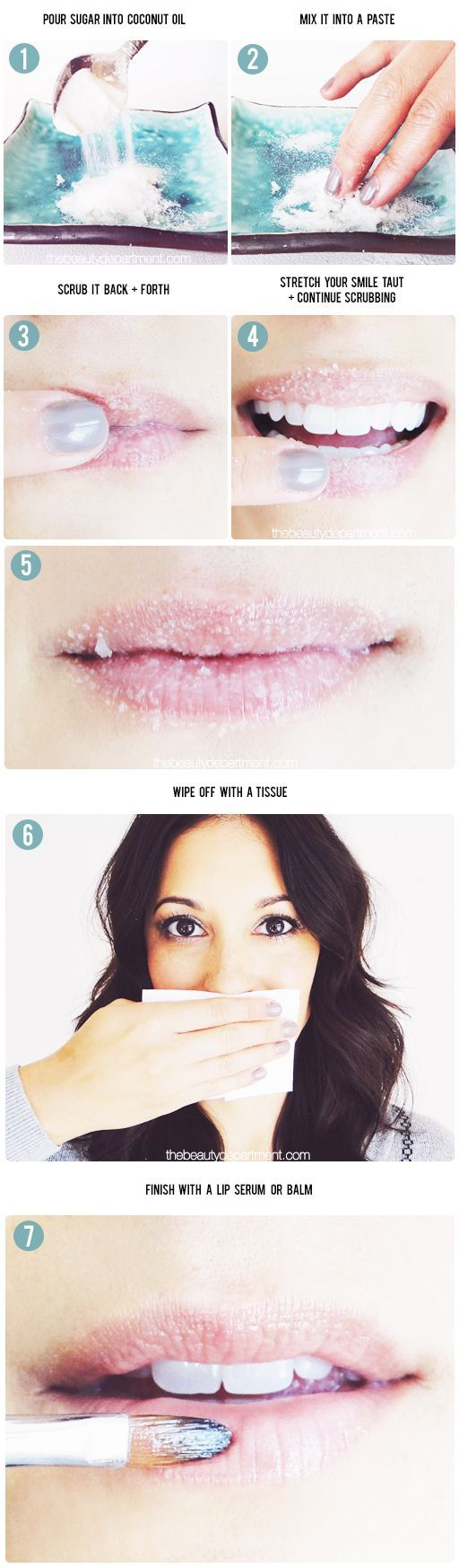 This is a pretty cool way to get soft and smooth lips. It's all natural too! This DIY is described to not only exfoliate your lips but also moisturize it. With 7 easy steps, what's not to love?