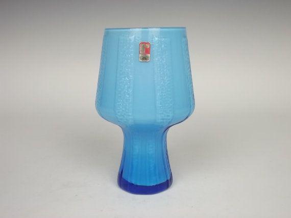 Ryd Swedish blue glass vase