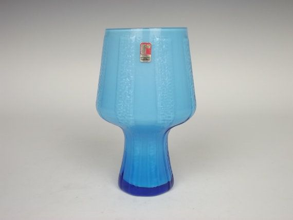 Ryd Swedish blue glass vase