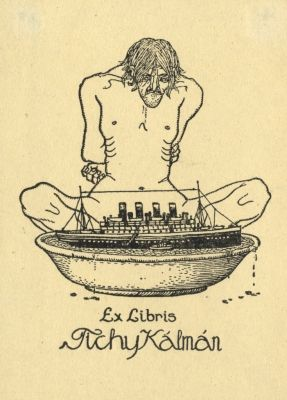 Bookplate by Kálmán Tichy for Himself, 1916