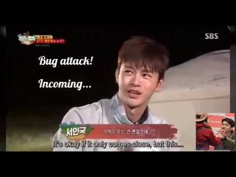 Seo In Guk's fear of bugs  - Law of the Jungle - YouTube