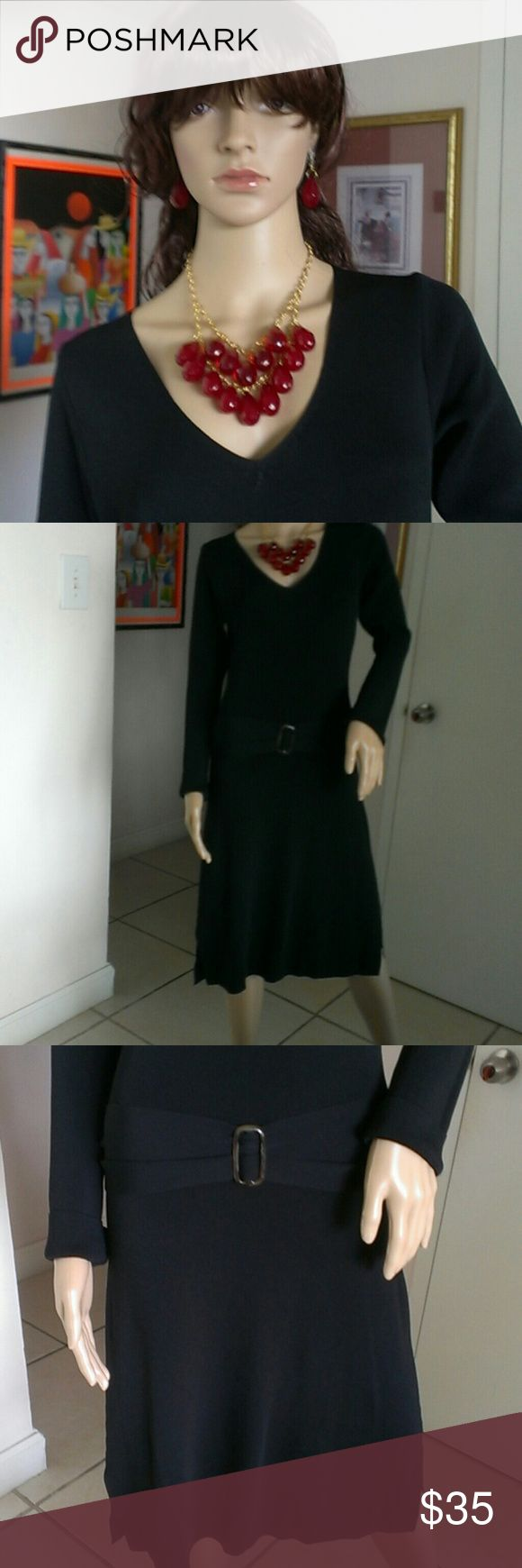 """""""REDUCED """" NWT Max Studio Black Dress Last Chance - Now. Casual  Black Dress,  V-neck Long Sleeve. The says small, but band tends to run size Medium-Large,  knee-Length, Comfortable Stretch, Bodycon. Can be combined with high heels, boots or with different accessories. Very nice. Great deal !!!  All purchase are final. !!! Happy Shopping Girls !!! Max Studio Dresses"""