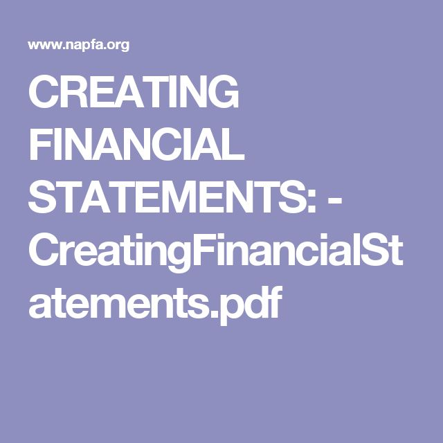 Creating Financial Statements  CreatingfinancialstatementsPdf
