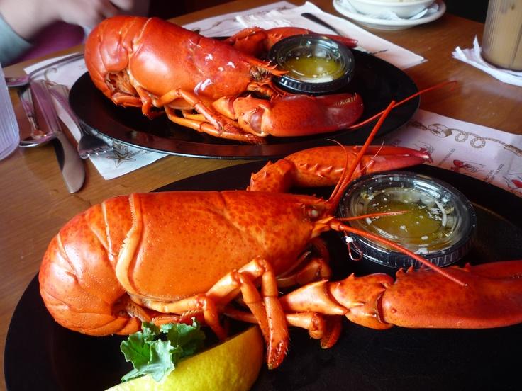 Twin lobsters from Warren's Lobster House in Kittery Maine