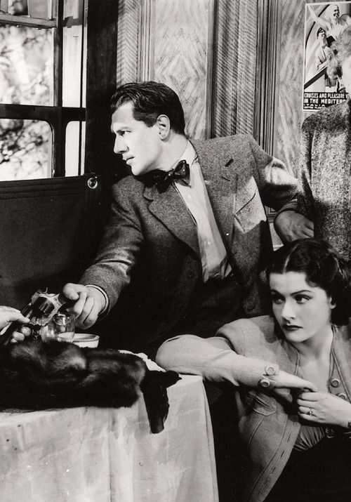 Michael Redgrave & Margaret Lockwood in The Lady Vanishes (dir. Alfred Hitchcock)