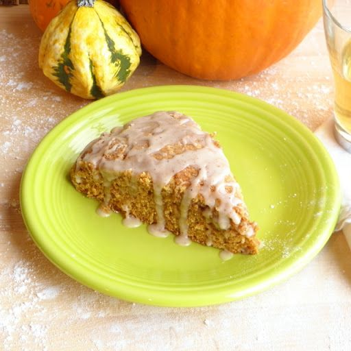 Pumpkin Scones with Spiced Glaze Recipe | Yummly