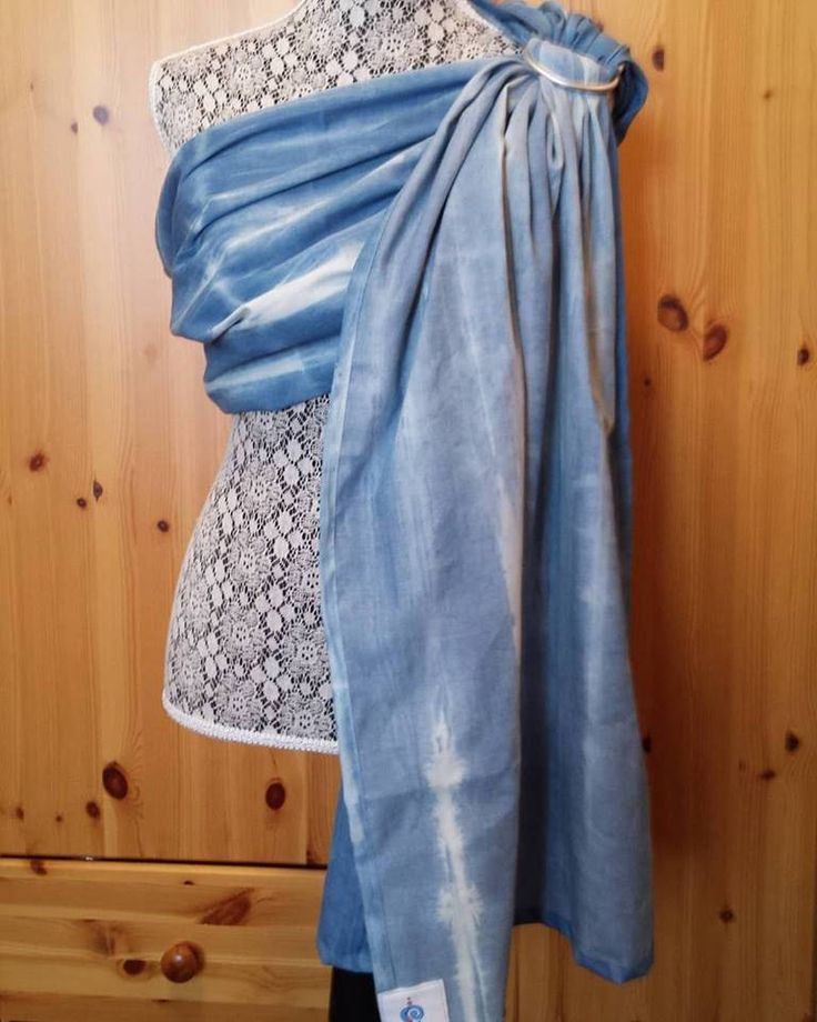 Hot weather ring sling, Shibori linen viscose, ultra soft and lightweight, breathable, BCIA member, limited edition by UchiWraps on Etsy