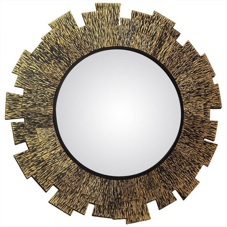 Perfect Franck Chartrain Flamme Bronze Wall Mirror France