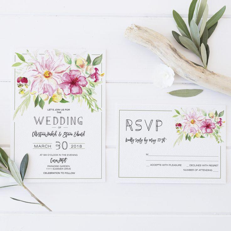 17 best Printable Wedding Invitations images on Pinterest Free