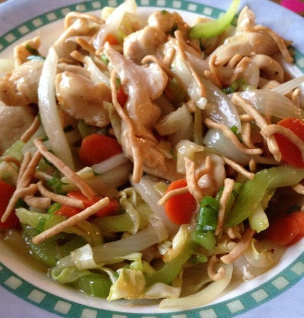Chicken chow mein (actifry)  Need to make this gluten free by omitting the noodles and trying rice or rice noodles