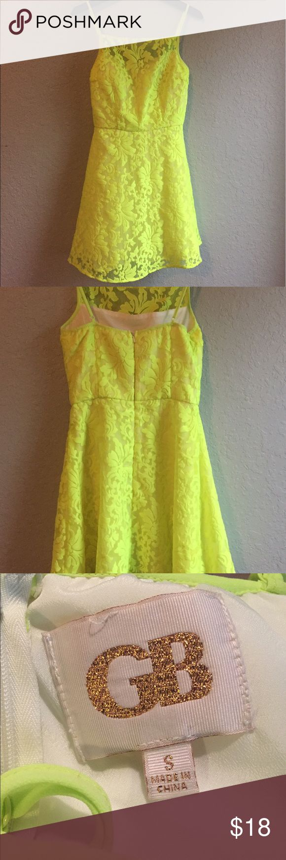 GB Neon Yellow Dress GB Neon Yellow Dress GB Dresses